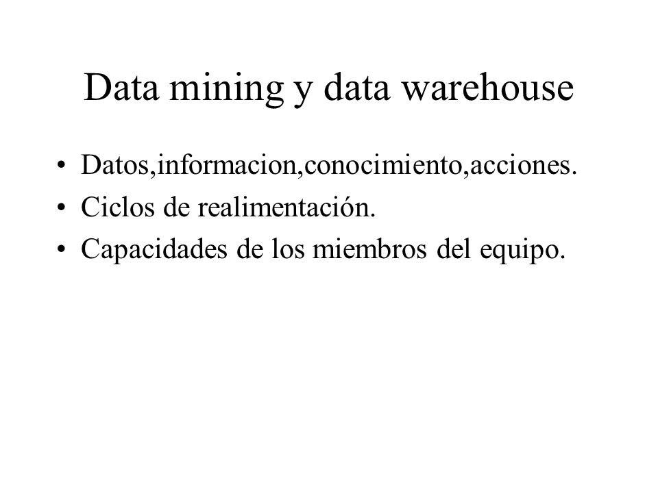 Data mining y data warehouse
