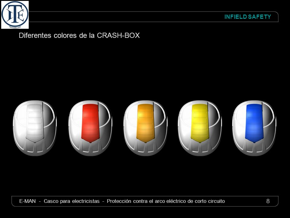 Diferentes colores de la CRASH-BOX