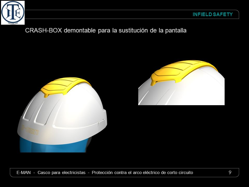 CRASH-BOX demontable para la sustitución de la pantalla