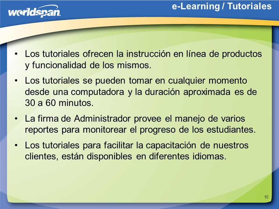 e-Learning / Tutoriales