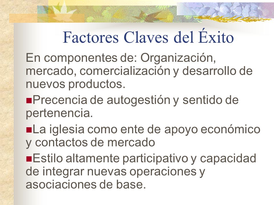 Factores Claves del Éxito