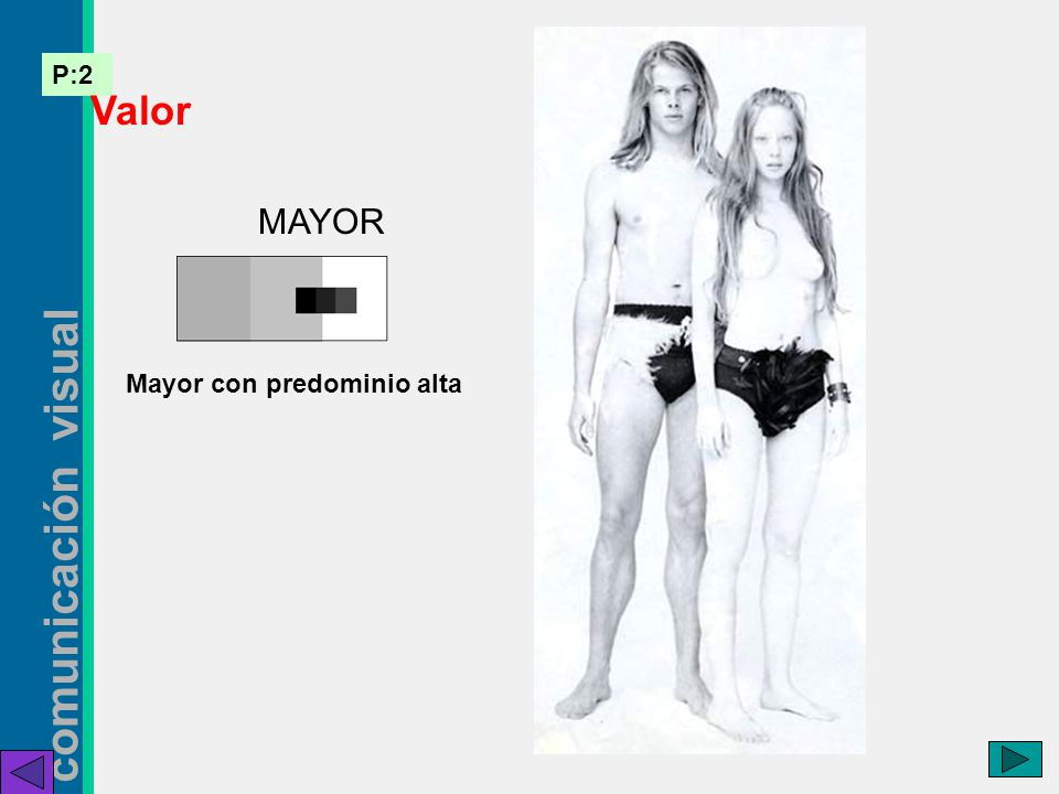 Valor MAYOR Mayor con predominio alta