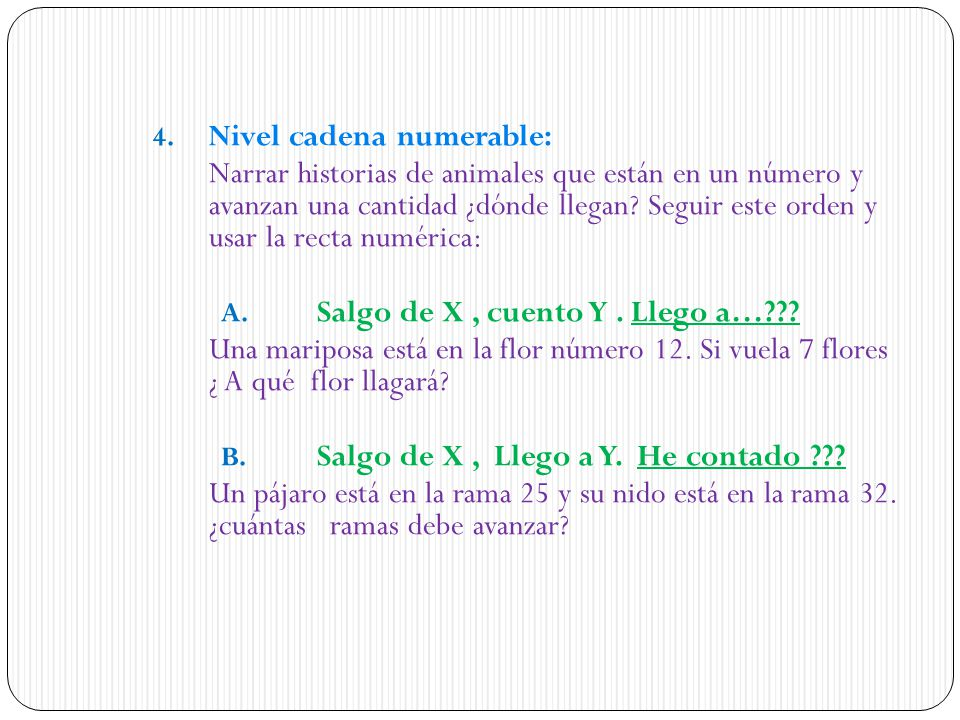 Nivel cadena numerable: