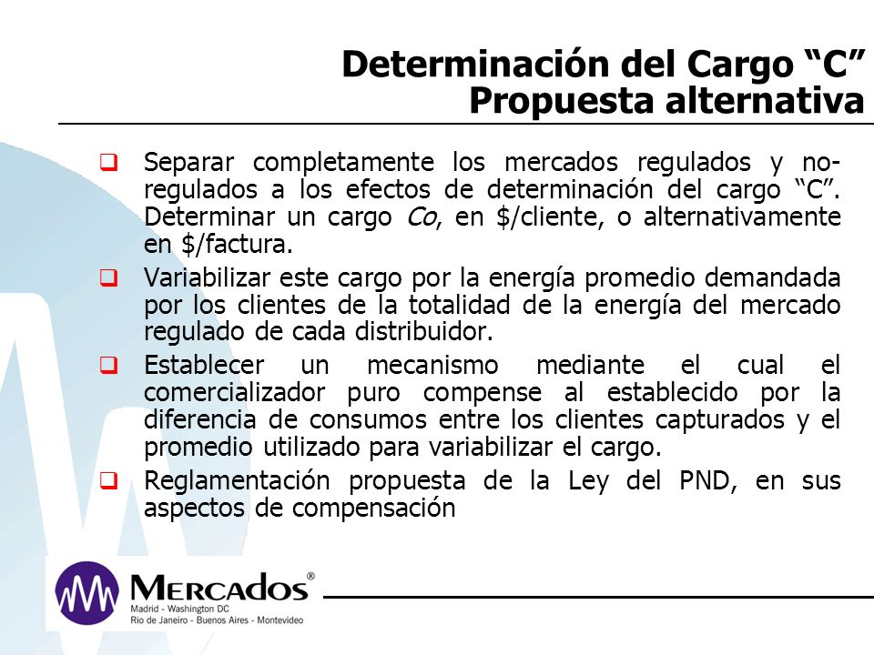 Determinación del Cargo C Propuesta alternativa