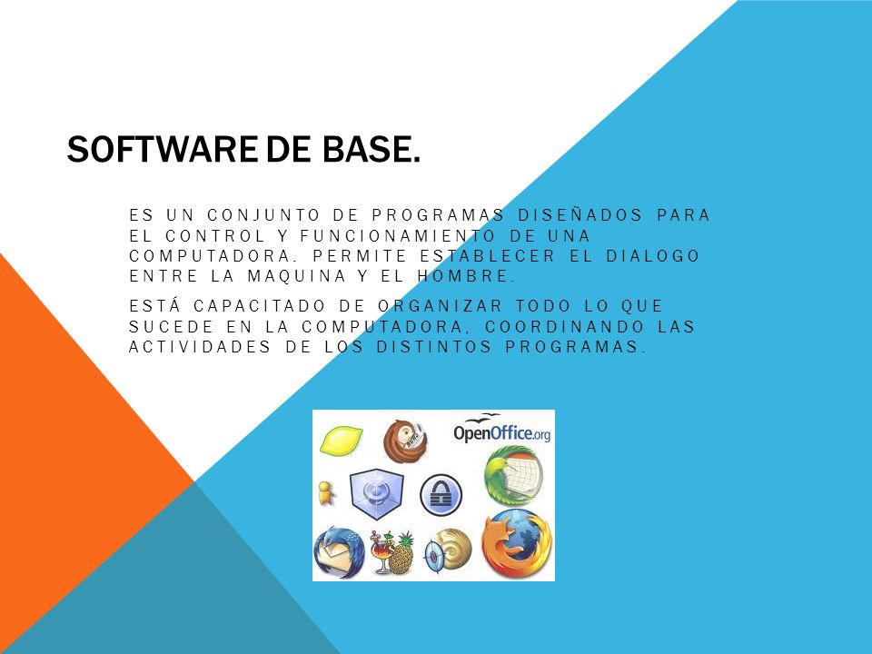 Software de base.
