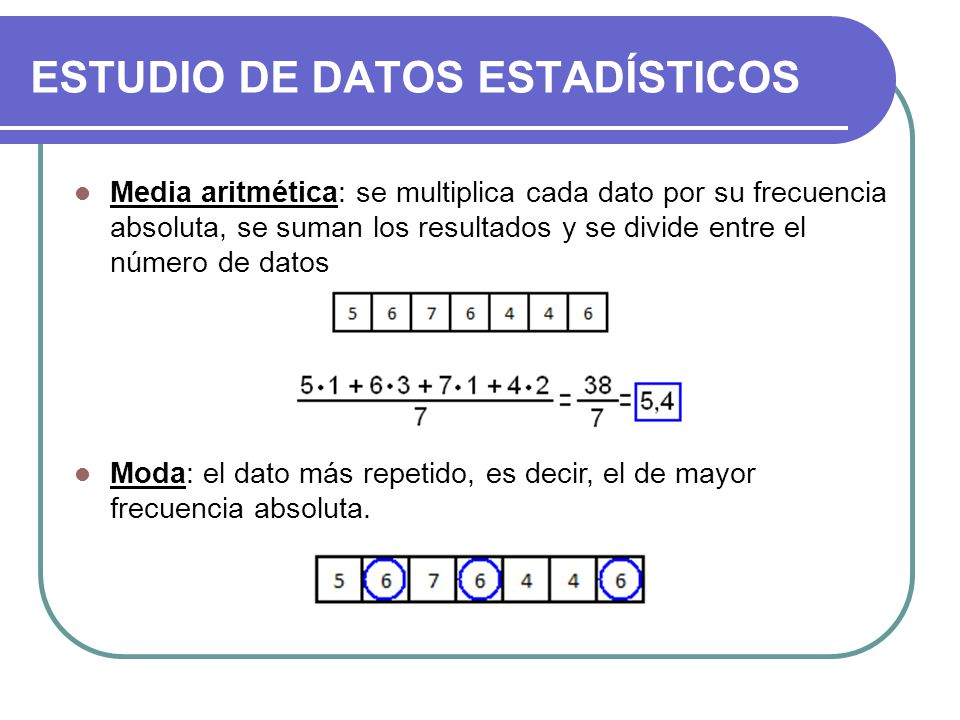 ESTUDIO DE DATOS ESTADÍSTICOS