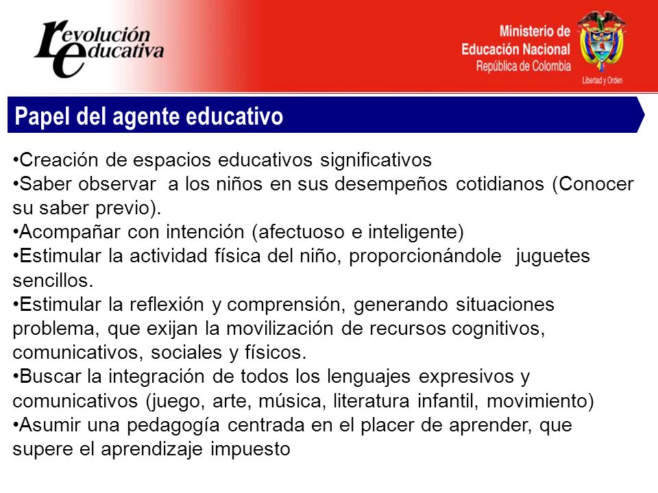Papel del agente educativo