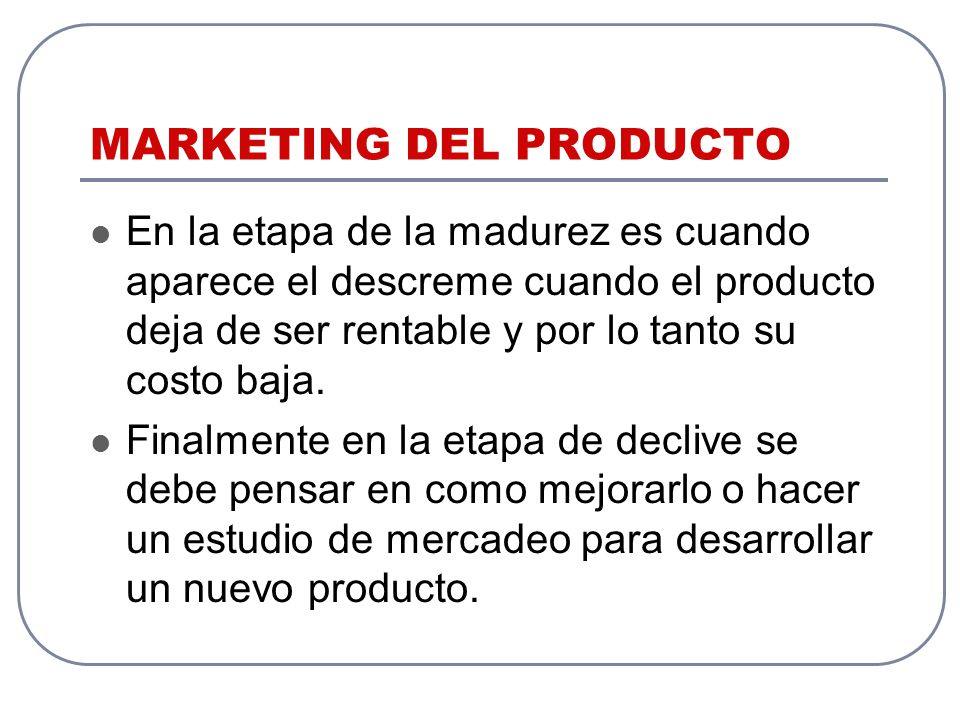 MARKETING DEL PRODUCTO