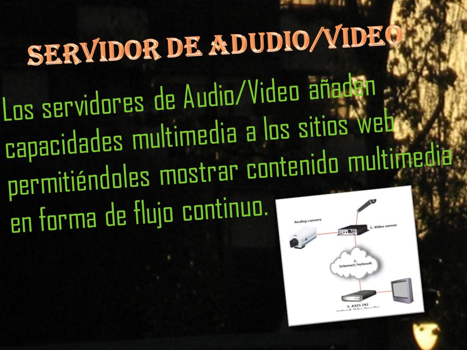 SERVIDOR DE ADUDIO/VIDEO