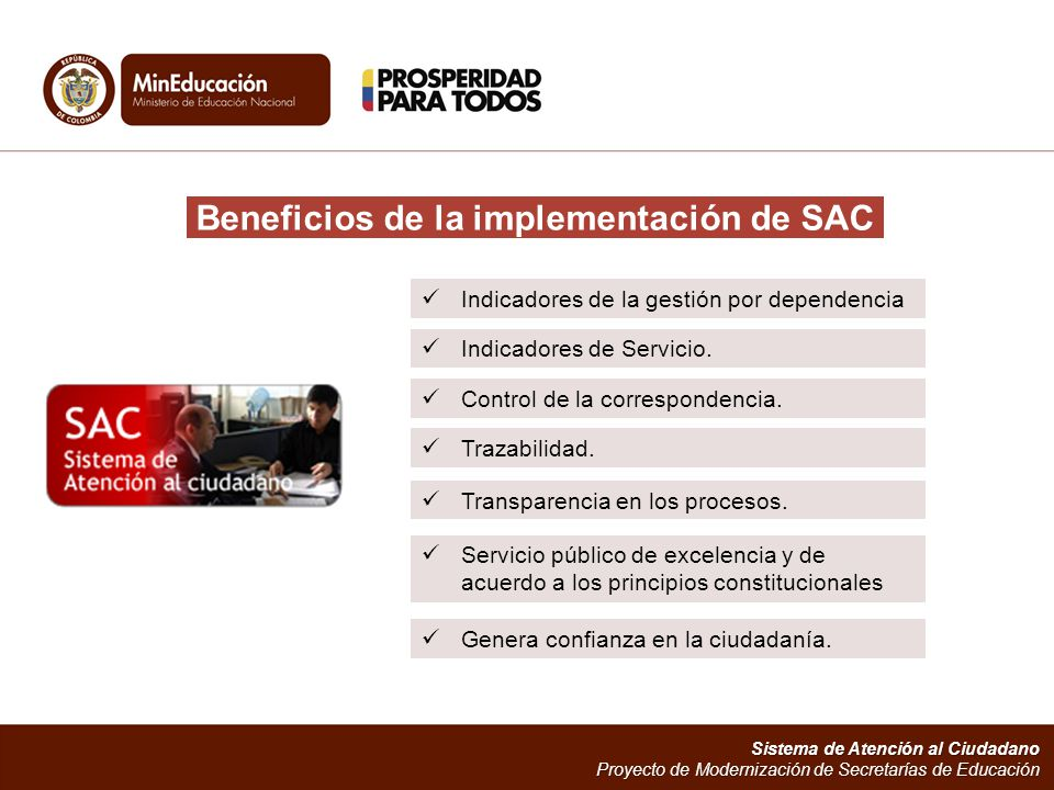 Beneficios de la implementación de SAC