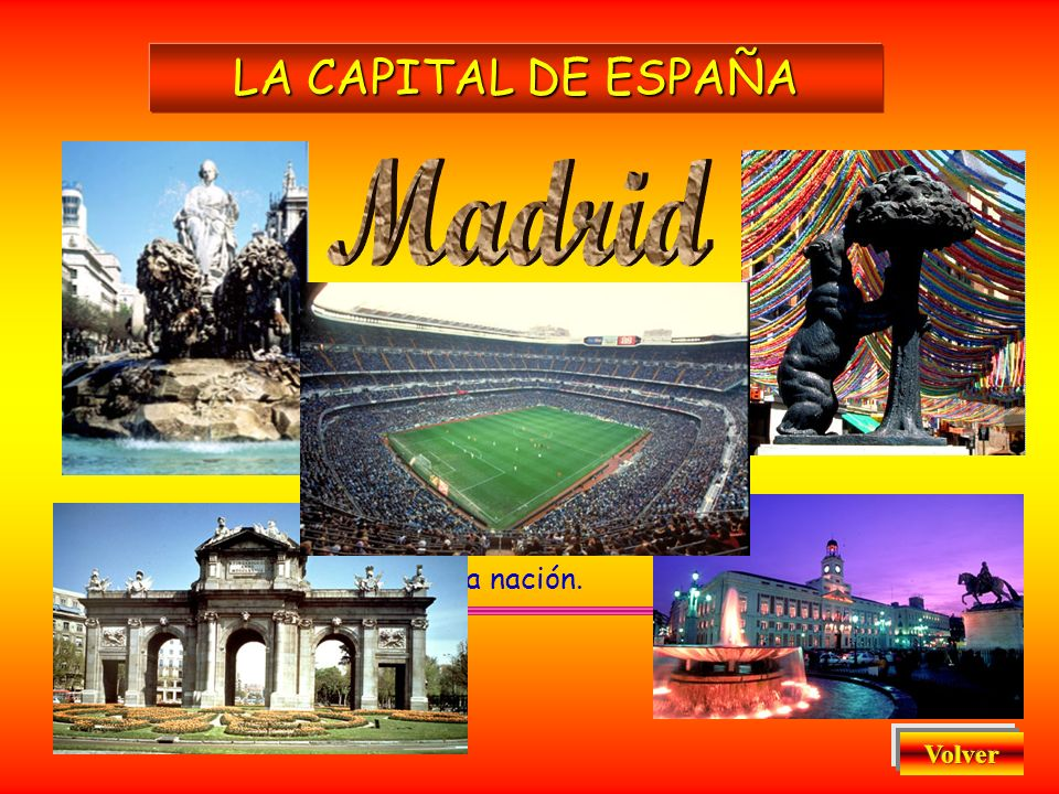 Madrid LA CAPITAL DE ESPAÑA