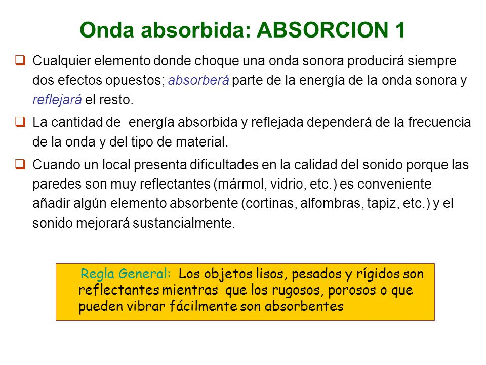 Onda absorbida: ABSORCION 1