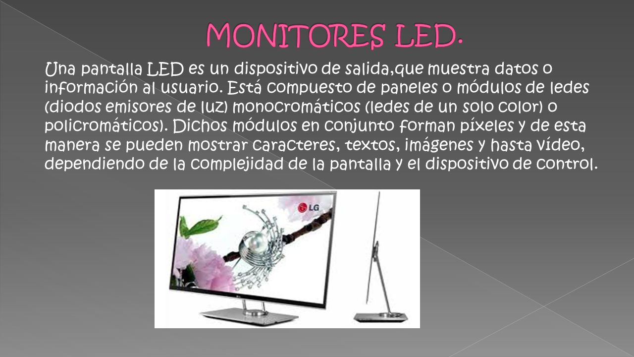 MONITORES LED.