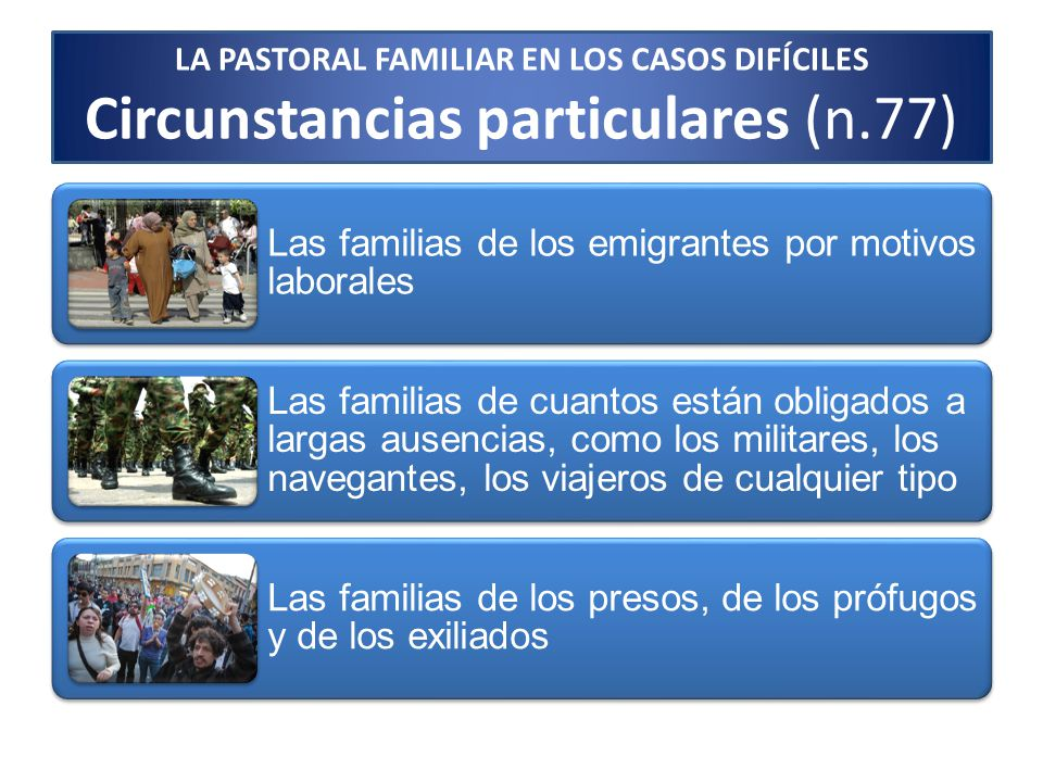 LA PASTORAL FAMILIAR EN LOS CASOS DIFÍCILES - ppt descargar
