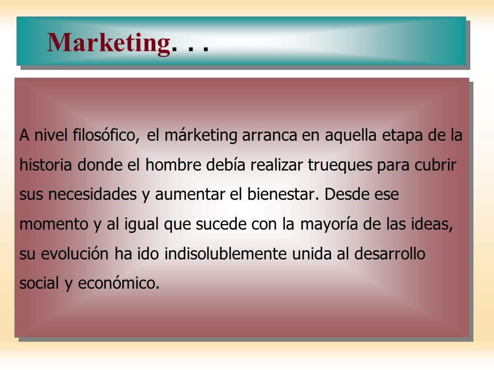 Marketing. . .