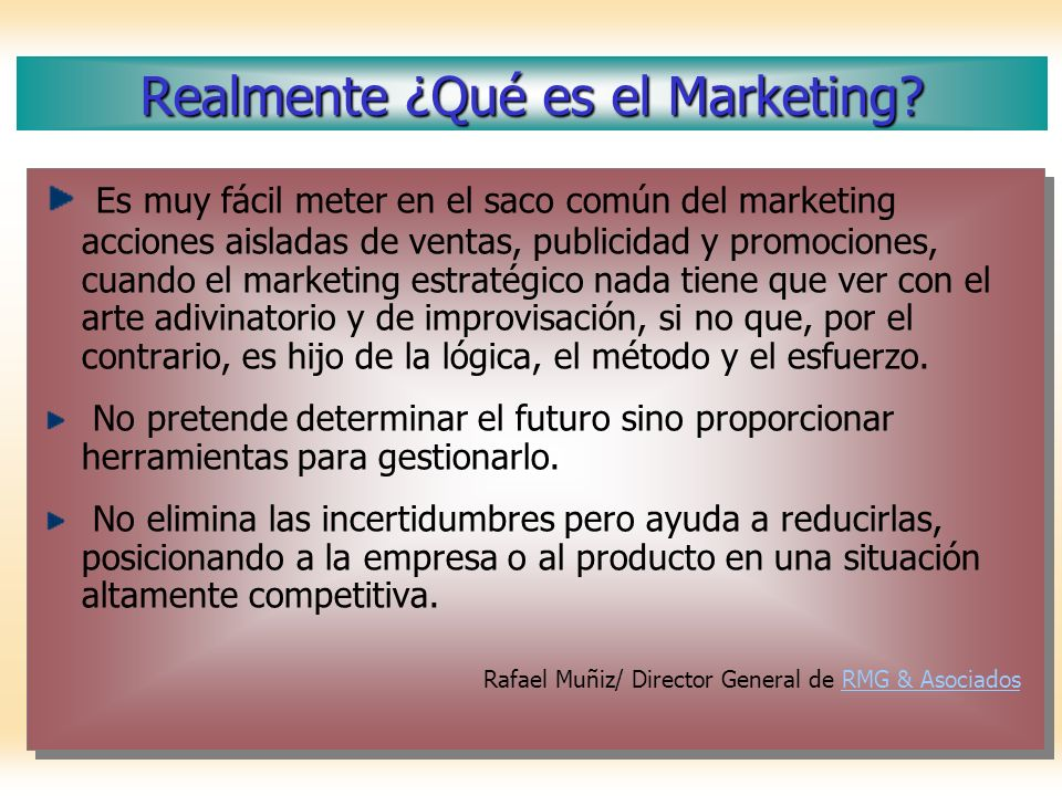 Realmente ¿Qué es el Marketing
