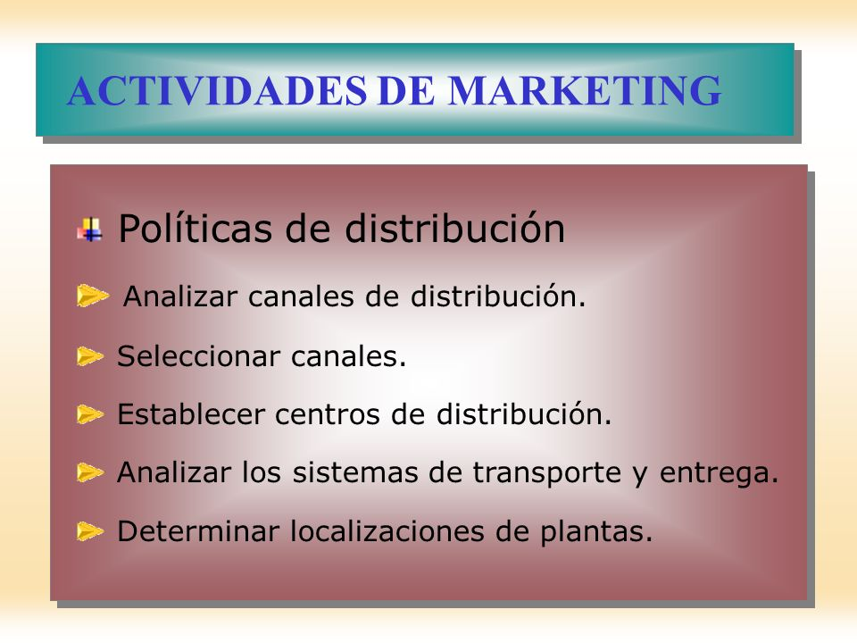 ACTIVIDADES DE MARKETING