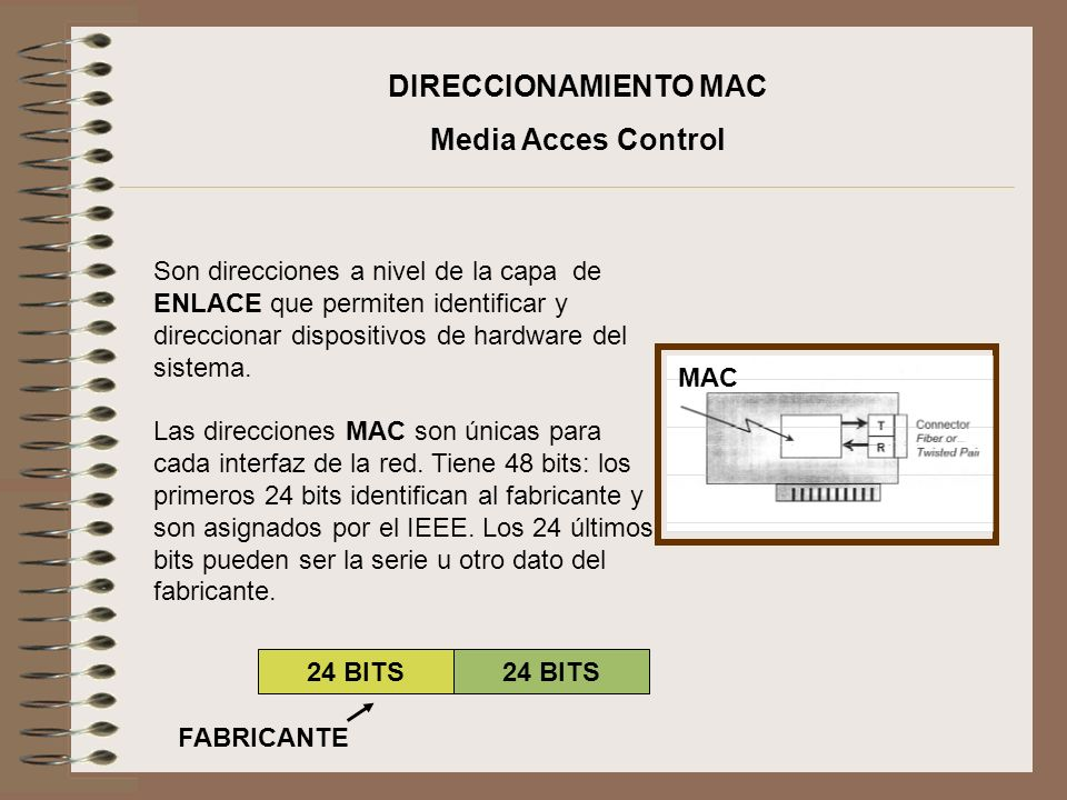 DIRECCIONAMIENTO MAC Media Acces Control