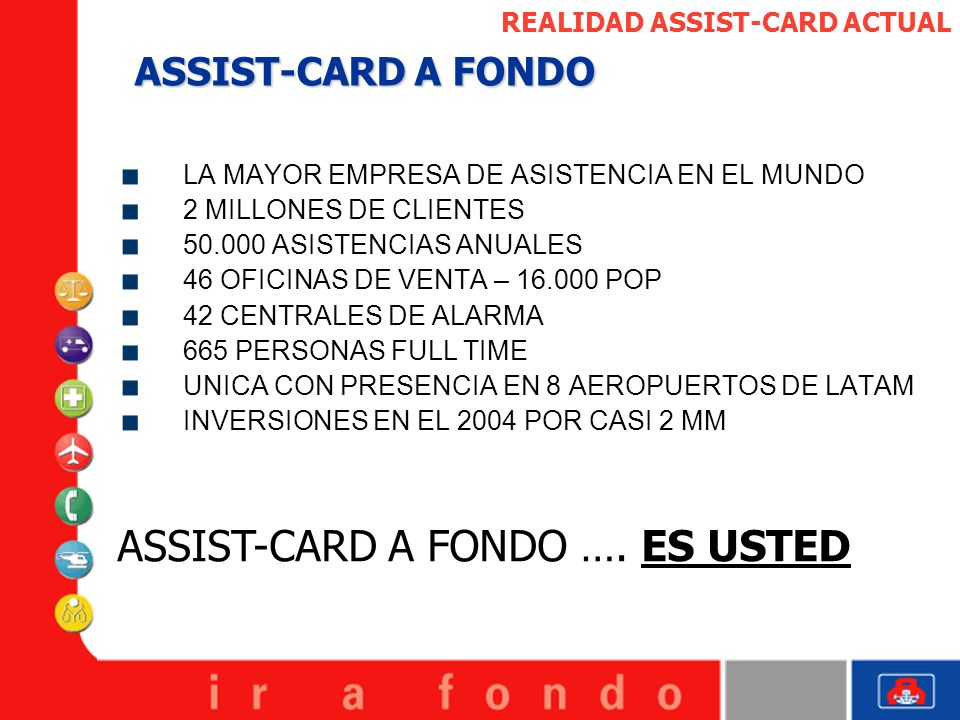 ASSIST-CARD A FONDO …. ES USTED
