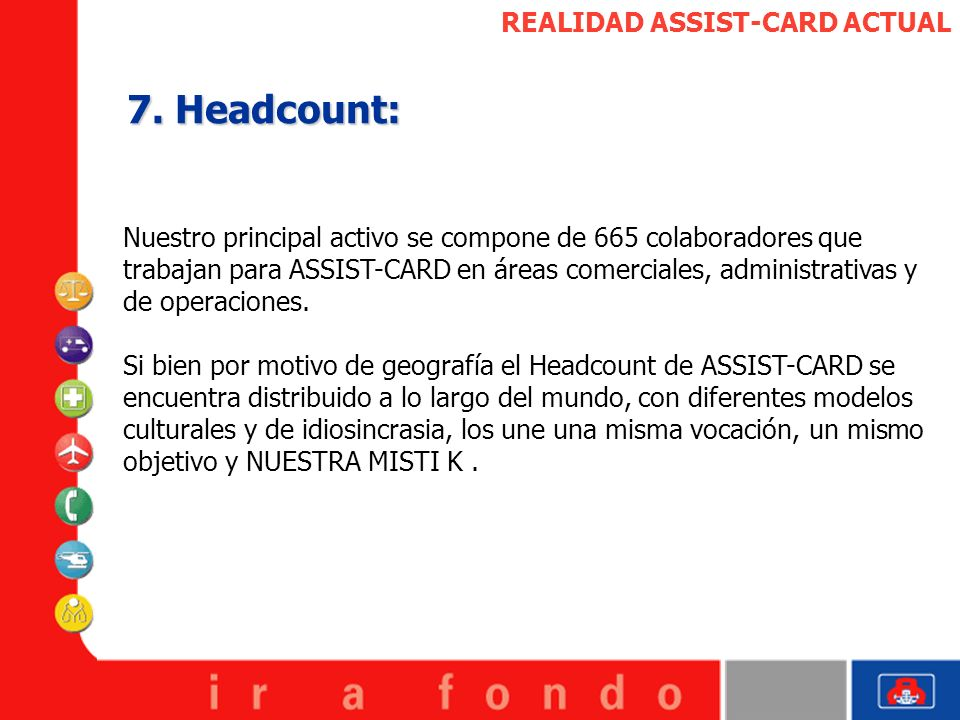 7. Headcount: REALIDAD ASSIST-CARD ACTUAL
