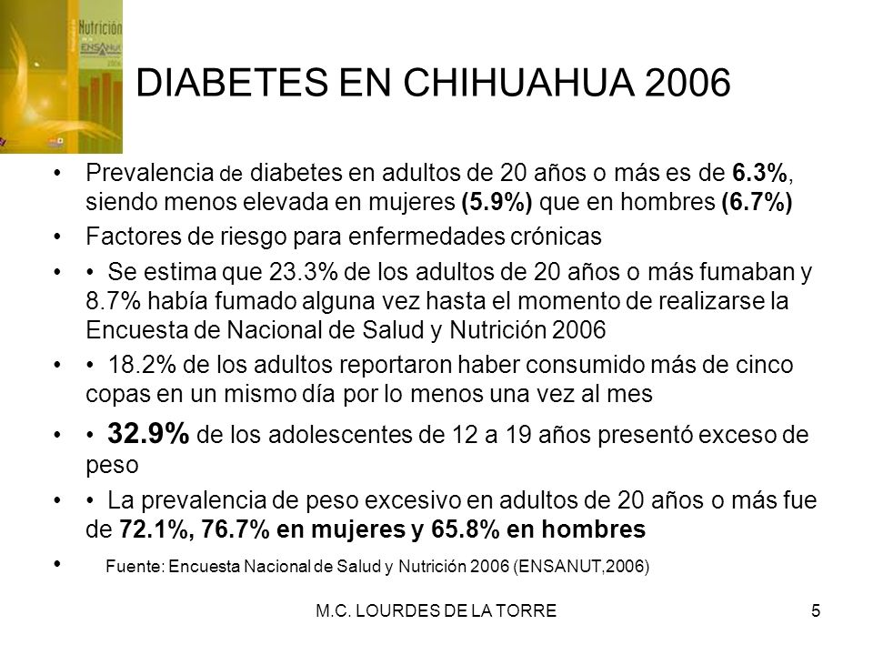 DIABETES EN CHIHUAHUA 2006