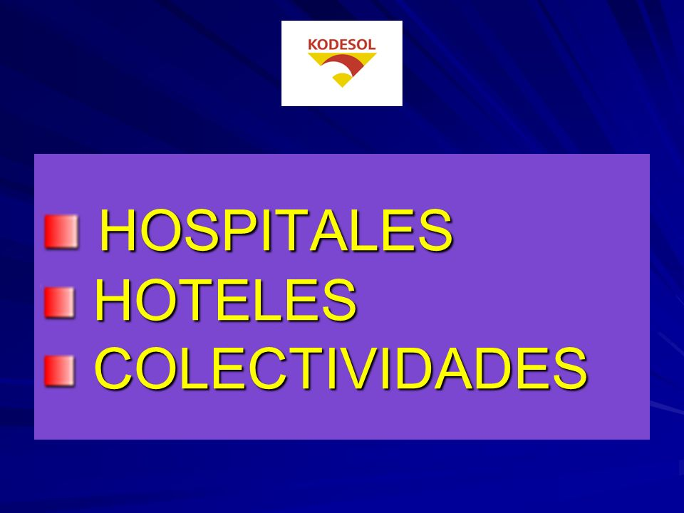 HOSPITALES HOTELES COLECTIVIDADES