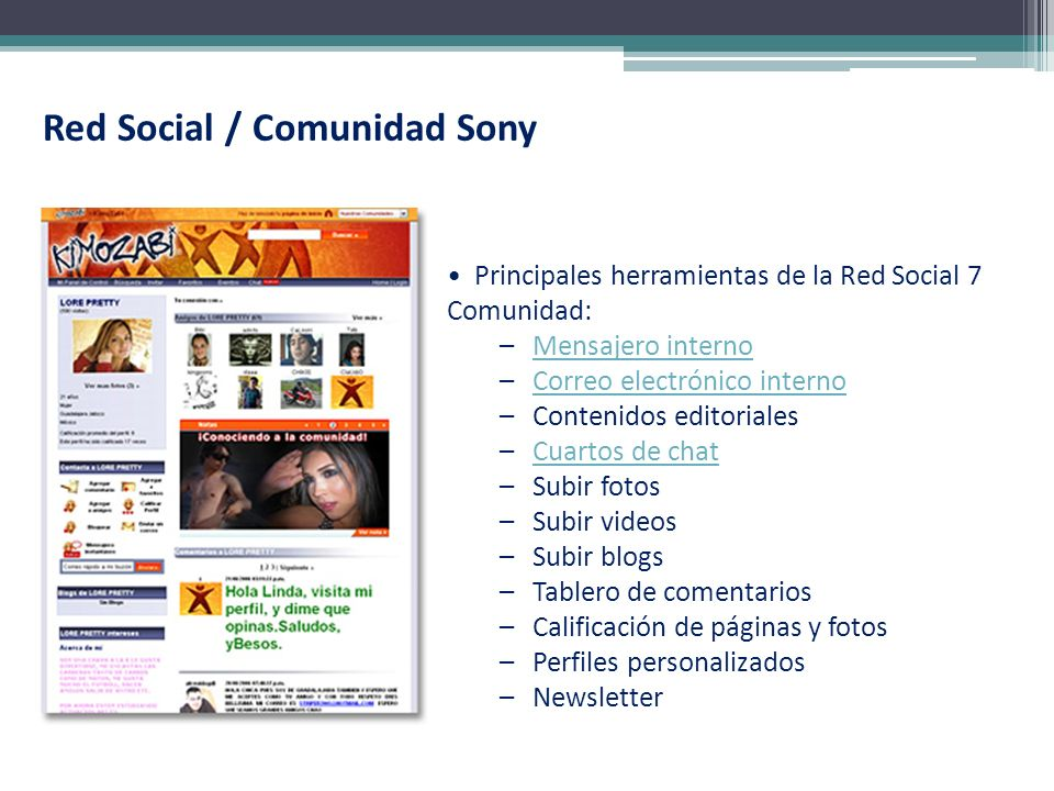 Red Social / Comunidad Sony