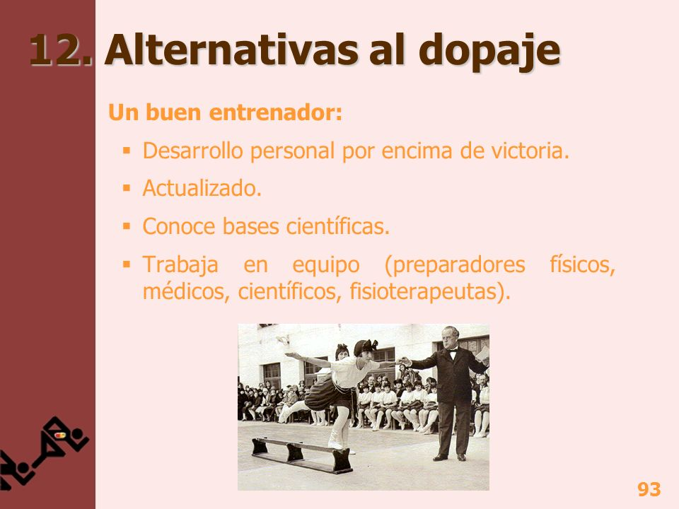 12. Alternativas al dopaje