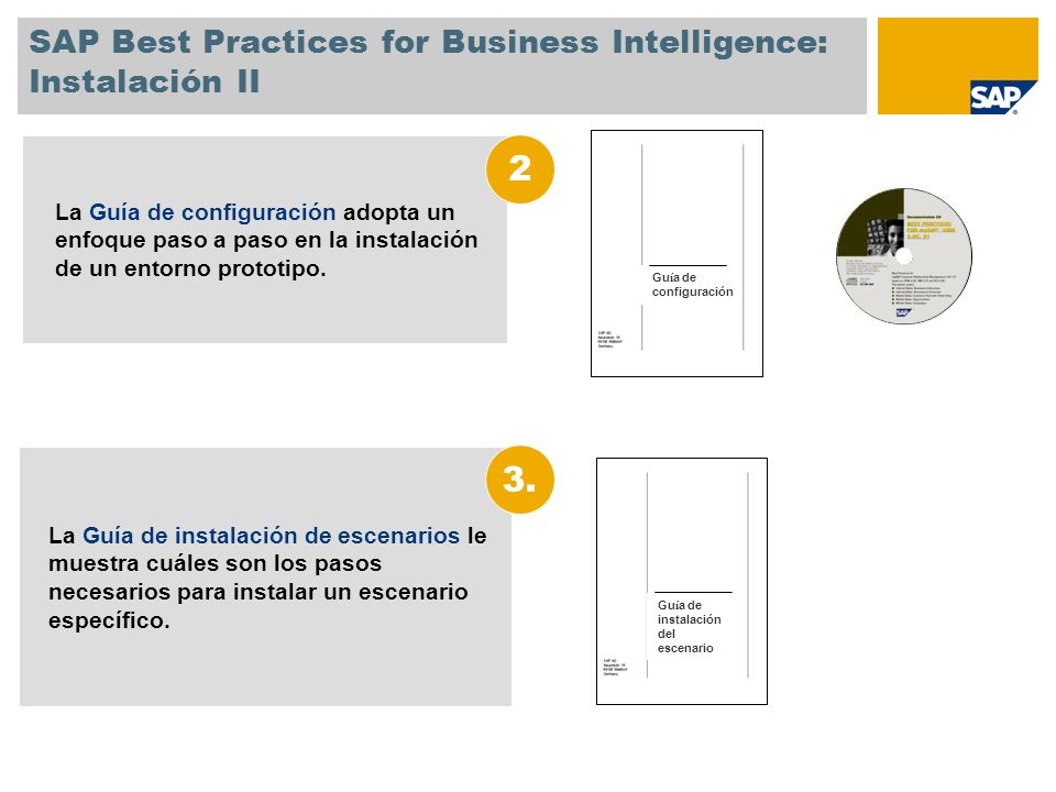 SAP Best Practices for Business Intelligence: Instalación II