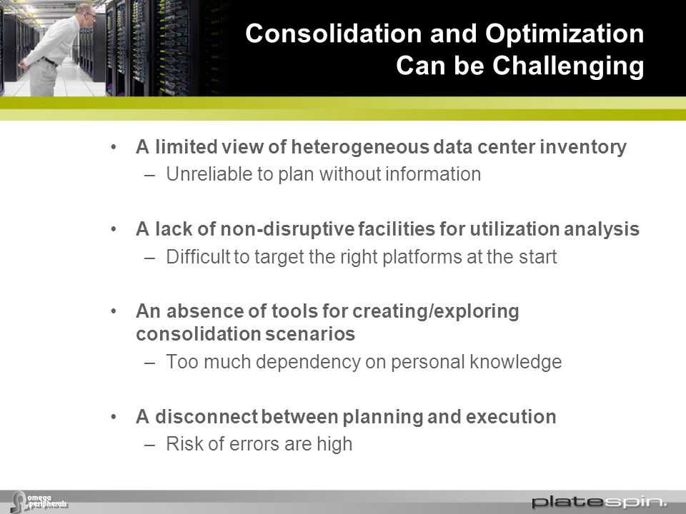 Consolidation and Optimization Can be Challenging