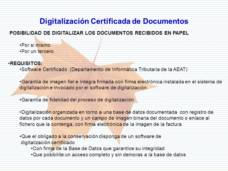 Digitalización Certificada de Documentos