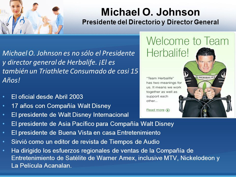 Michael O. Johnson Presidente del Directorio y Director General