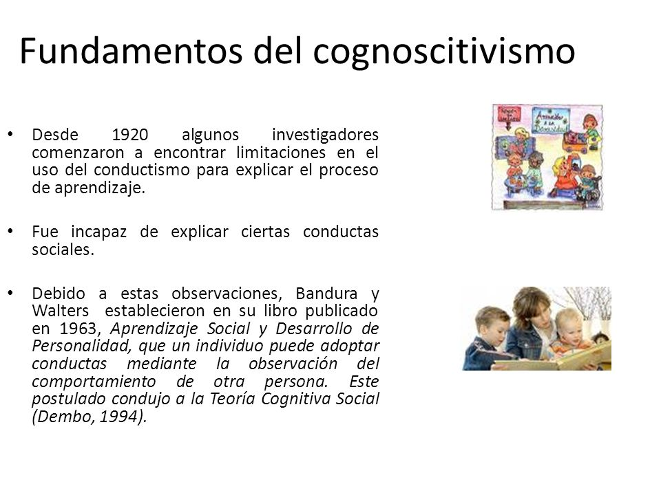 Fundamentos del cognoscitivismo