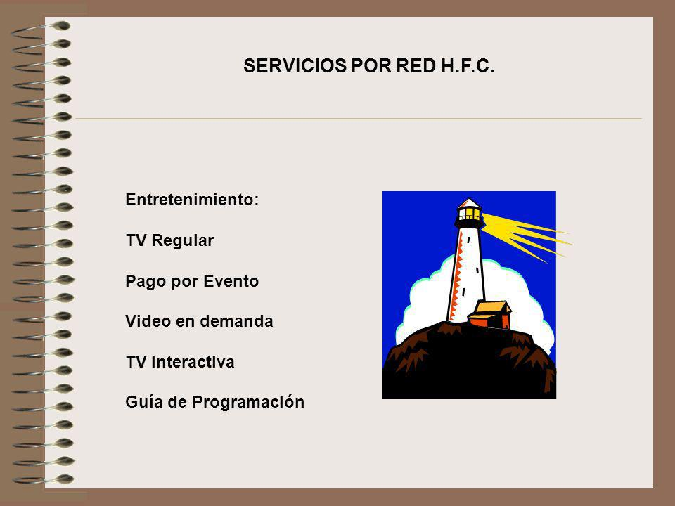 SERVICIOS POR RED H.F.C. Entretenimiento: TV Regular Pago por Evento