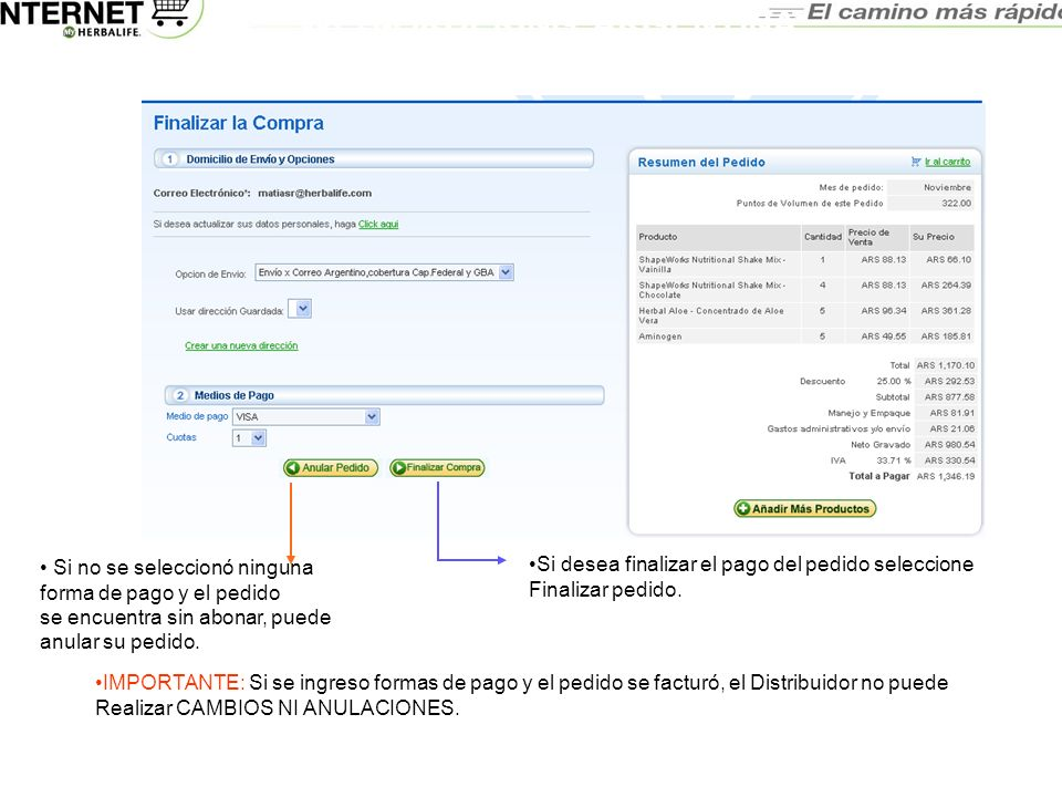 WEB-ORDERING ARGENTINA MANUAL DEL USUARIO