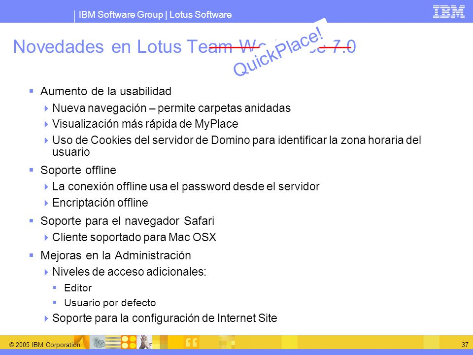 Novedades en Lotus Team Workplace 7.0