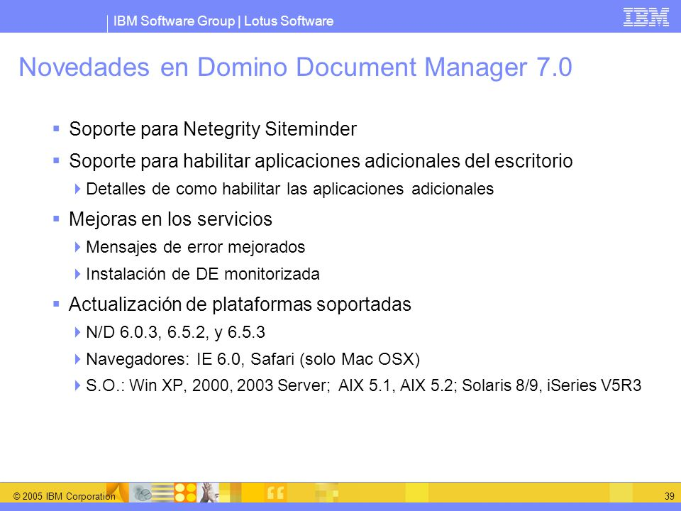 Novedades en Domino Document Manager 7.0