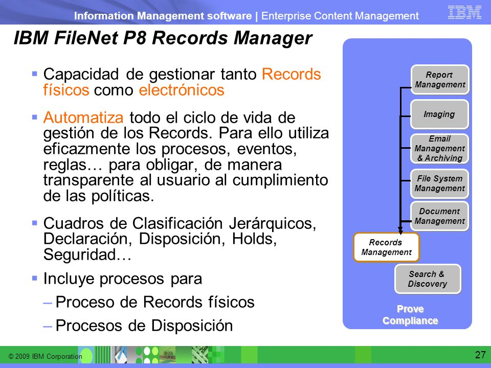 IBM FileNet P8 Records Manager