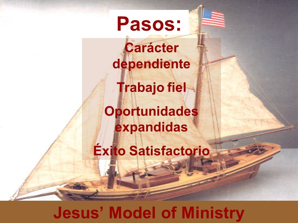 Oportunidades expandidas Jesus' Model of Ministry