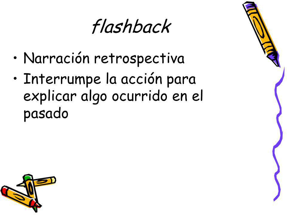 flashback Narración retrospectiva