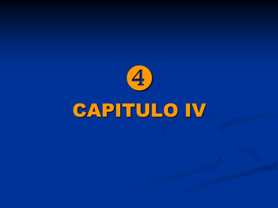  CAPITULO IV