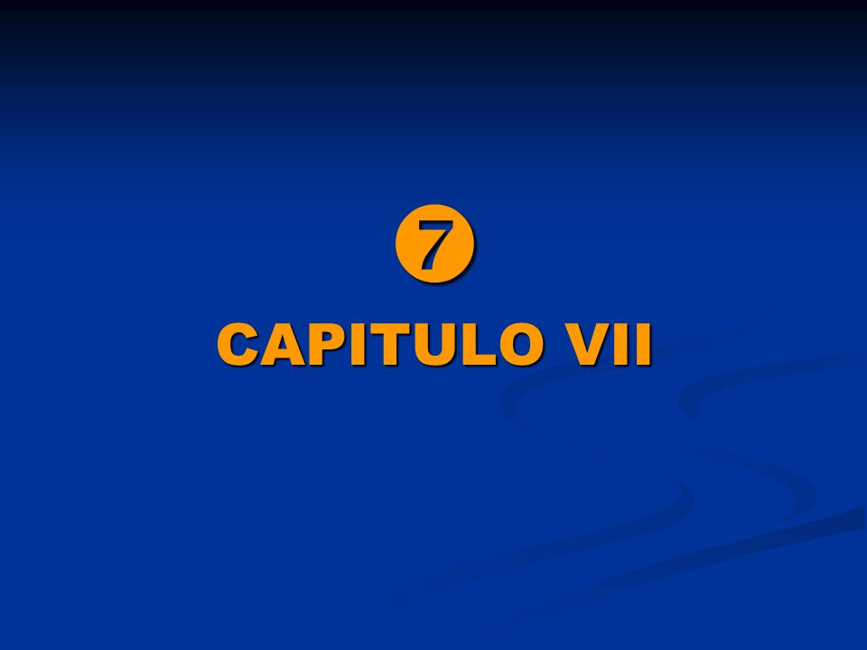  CAPITULO VII