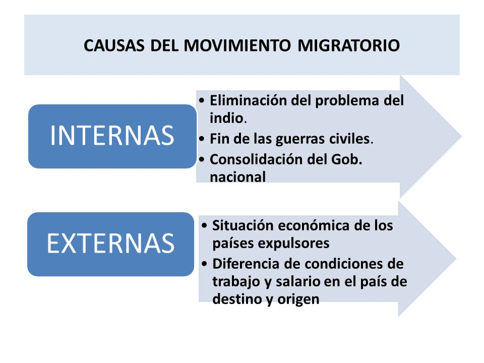 CAUSAS DEL MOVIMIENTO MIGRATORIO