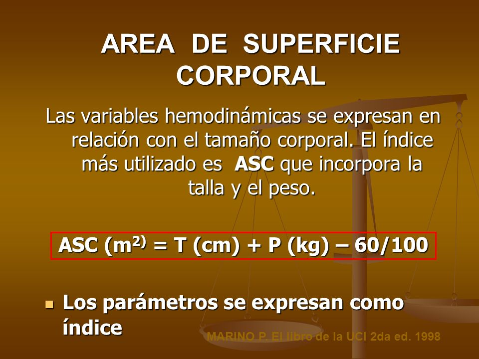 AREA DE SUPERFICIE CORPORAL