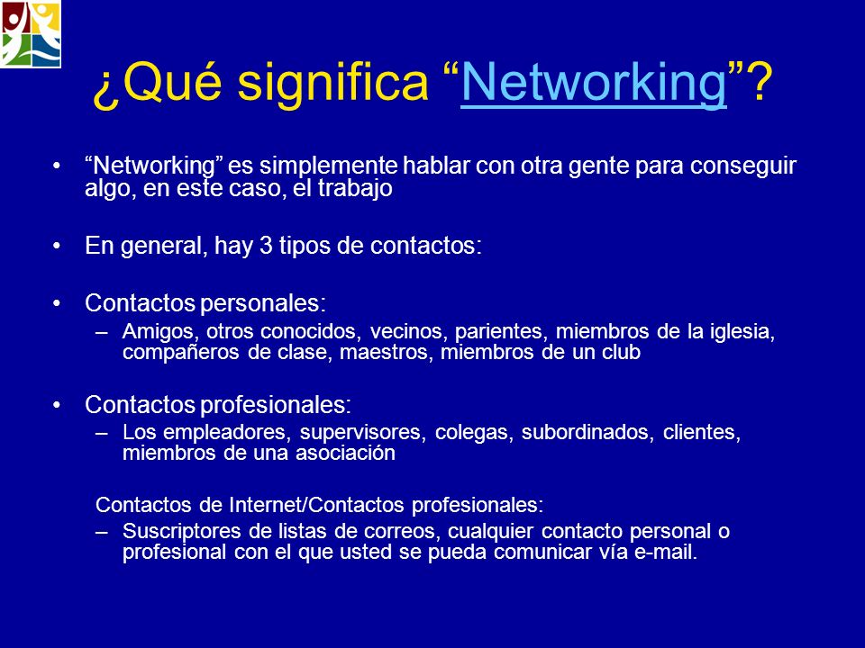 ¿Qué significa Networking