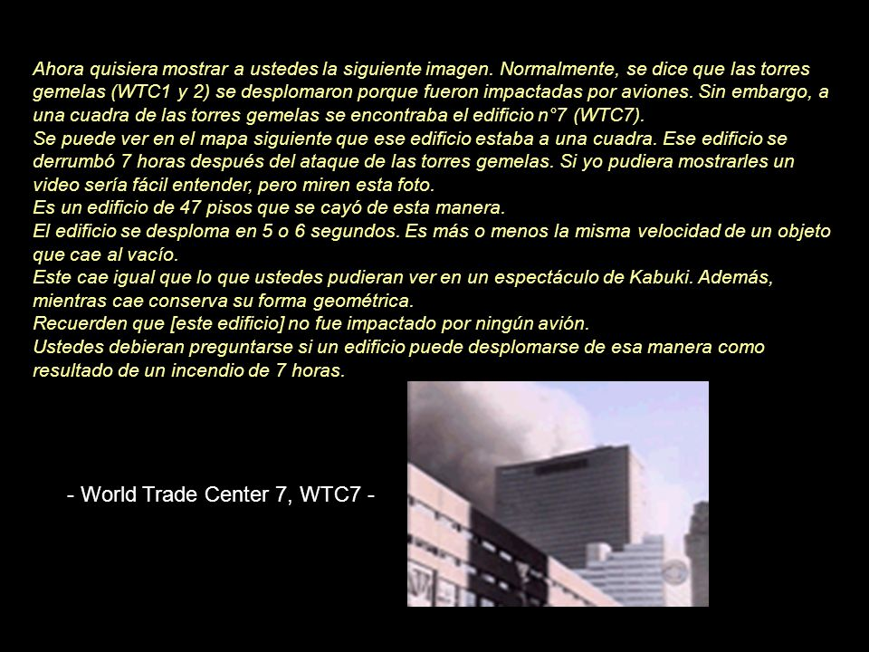 - World Trade Center 7, WTC7 -