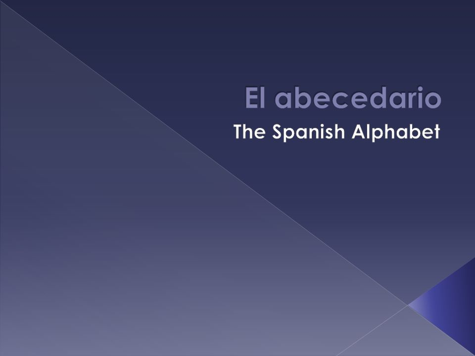 El abecedario The Spanish Alphabet