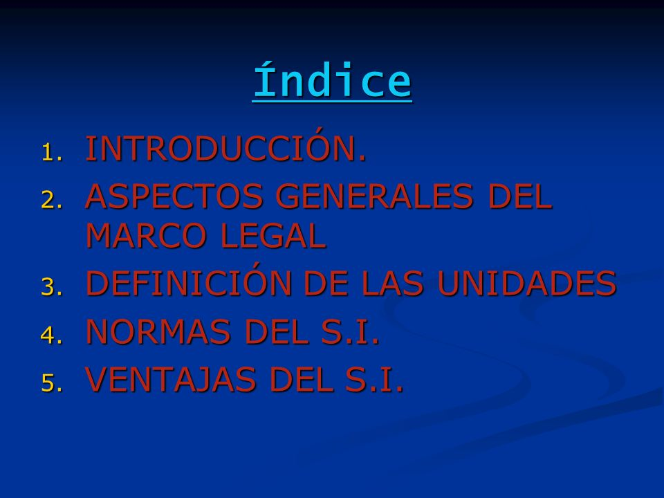 Índice INTRODUCCIÓN. ASPECTOS GENERALES DEL MARCO LEGAL