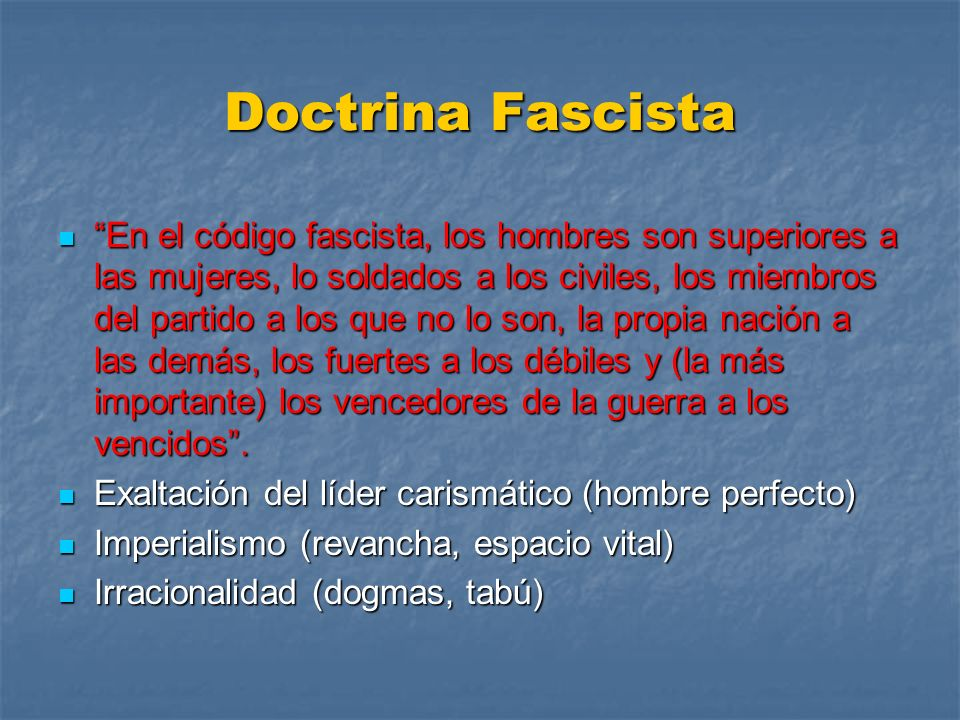 Doctrina Fascista