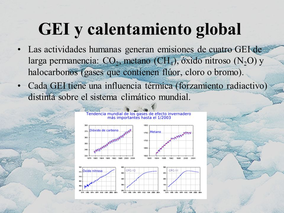 GEI y calentamiento global